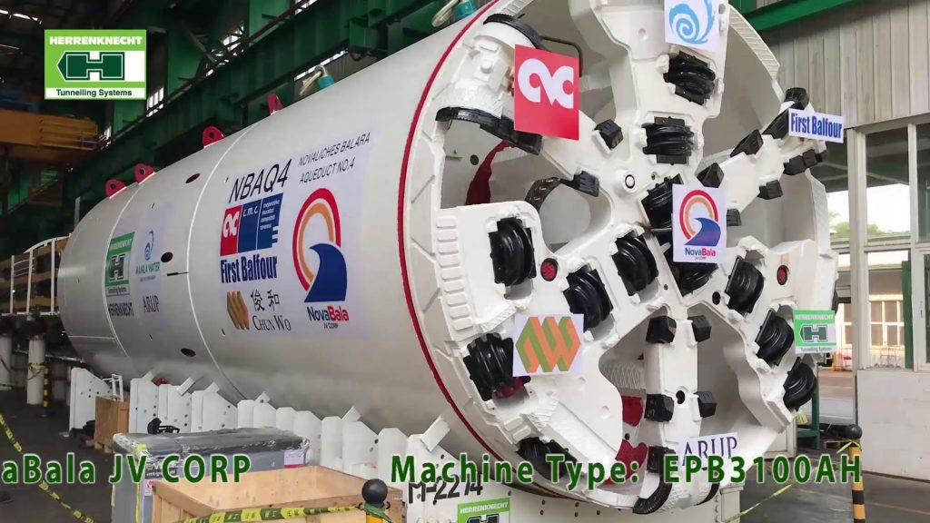 Novabala JV (CMC di Ravenna, First Balfour and Chun Wo Joint Venture) Tunnel Boring Machine for Manila Water Aqueduct Project