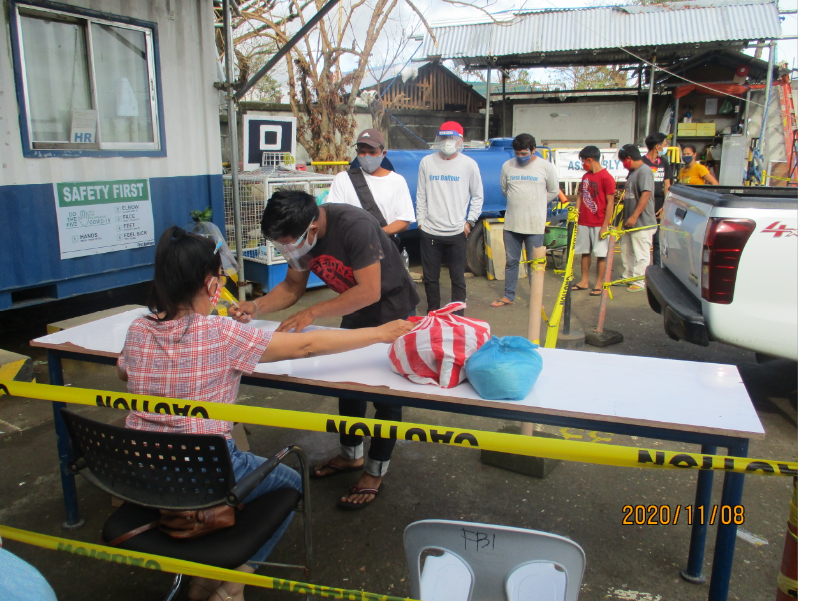 First Balfour - Tiwi Project Management Team completes assistance to families hit by Typhoon Rolly