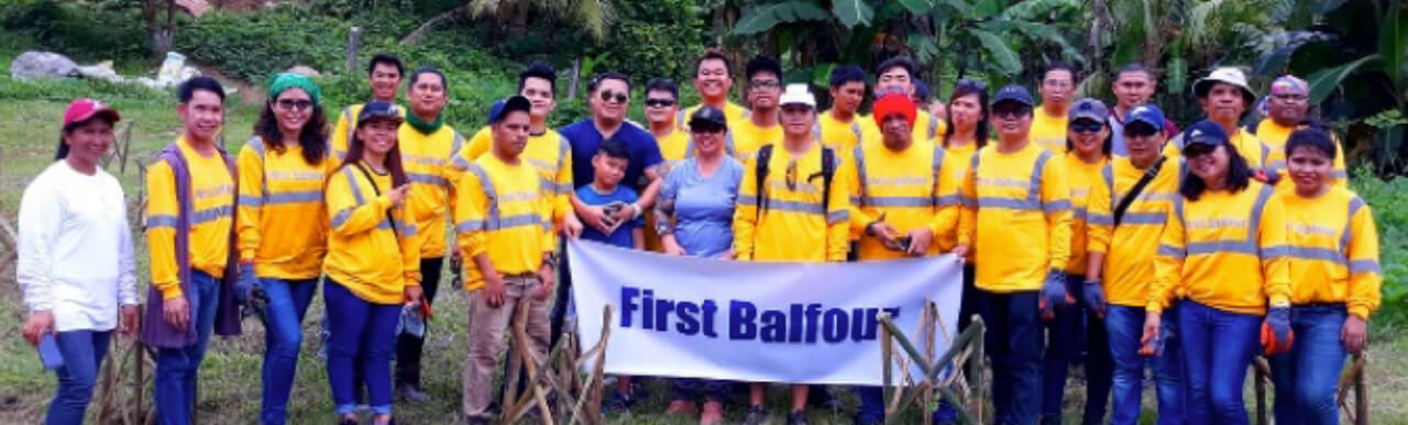 First Balfour tree planting