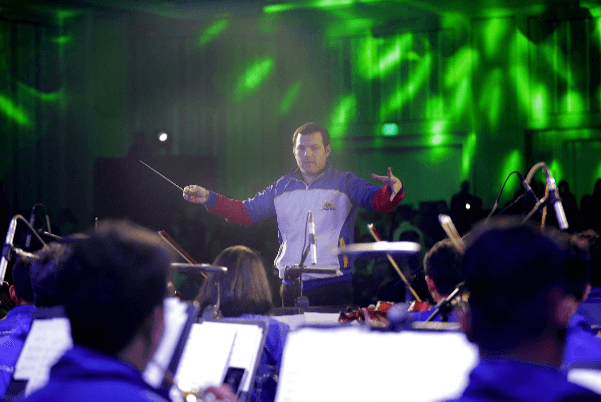The Orchestra of the Filipino Youth (OFY), a Lopez Group-supported orchestra of music scholars, rendered a 40-minute performance under the baton of Venezuelan conductor Maestro Joshua Dos Santos. ABS-CBN's Tawag ng Tanghalan Finalist Mary Gidget dela Llana also performed for the guests.