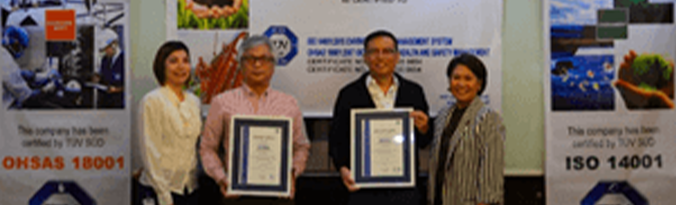 TUV SUD Hands Over ISO 14001:2015 and OHSAS 18001:2007 Certificates to First Balfour