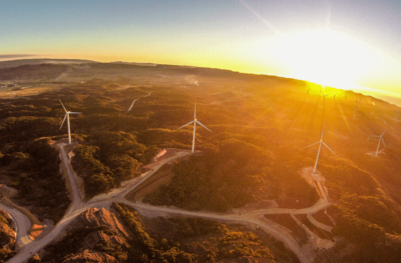 First Balfour completed project - Burgos Wind Farm in Ilocos Norte, Philippines