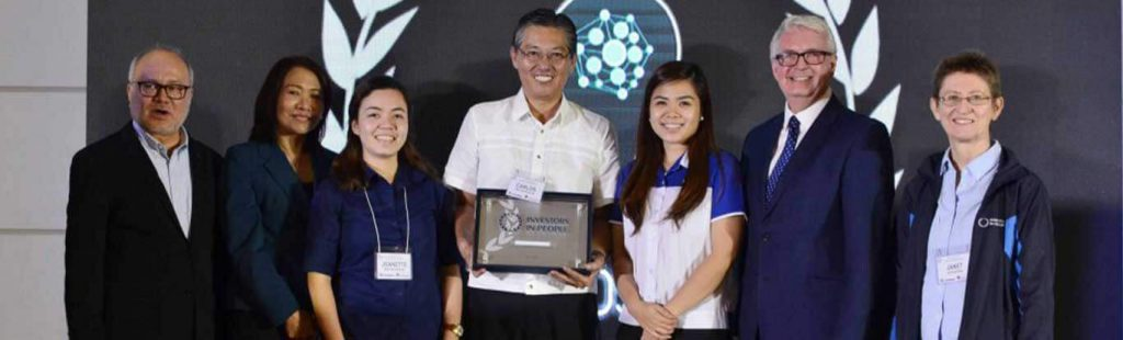 First Balfour HR representatives receive the Silver Accreditation from IIP Philippines